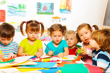 Busy creative kids