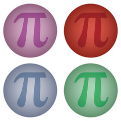 sign of number pi on ball