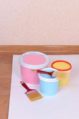 Paint on floor in room