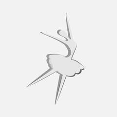 Vector illustration of dancing ballerina