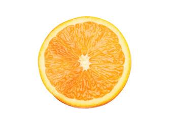 juicy orange isolated on white