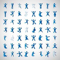 Abstract Human Symbols Set