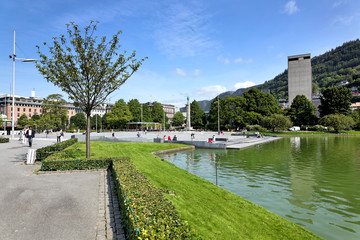 See Lille Lungegardsvannet in Bergen