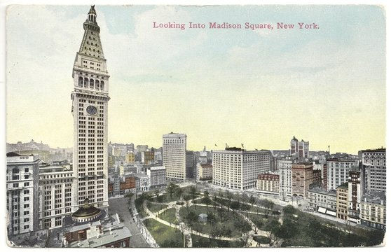 Madison Square in New York City 1910 (col. Postkarte)