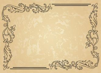 Wall Mural - Vintage ornament frame