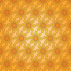 Floral background. Seamless texture. Vector art