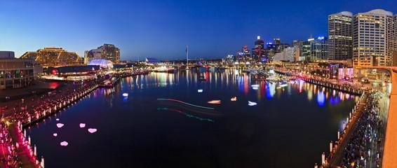 Sydney Darling Harbour Sunset pan