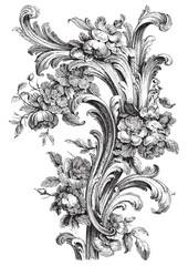 Antique floral scroll