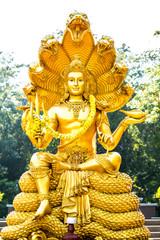 wisnu statue in huai tueng thao reservoir park, chiangmai , Thai