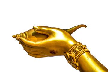 Hand of wisnu statue in huai tueng thao reservoir park, chiangma