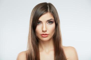 Woman hair style fashion portrait.
