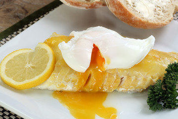 smoked haddock with a poached egg