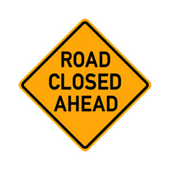 traffic sign - road closed ahead - e493