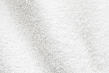 White cotton towel close up background photo texture