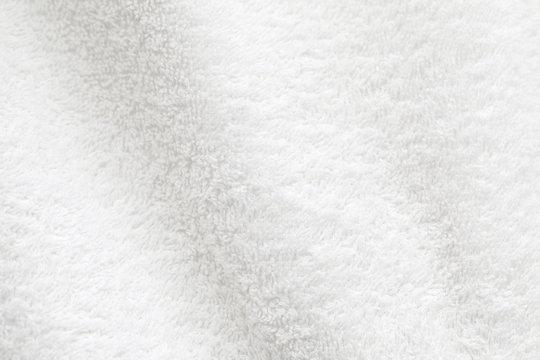 White cotton towel close up background photo texture
