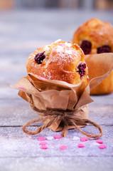 Muffins, Himbeermuffin, Ostern, Kirschen