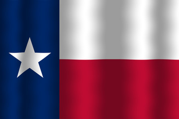 Waving Texas State Flag