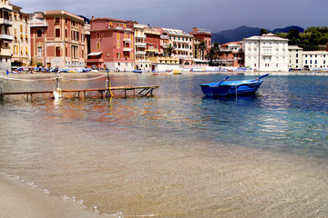 Printed roller blinds City on the water Sestri Levante, Silence bay