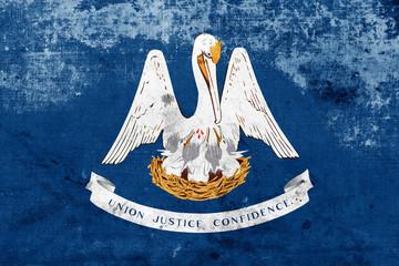 Grunge Louisiana State Flag