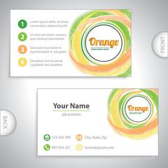 Universal orange whirlpool business card.