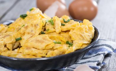 Portion of Scrambled Eggs
