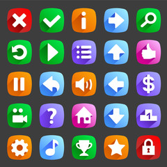 Flat game icons