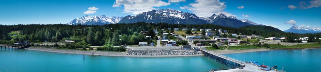 Beautiful view of Haines city near Glacier Bay, Alaska, USA Wall mural