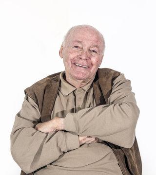 elderly retired man