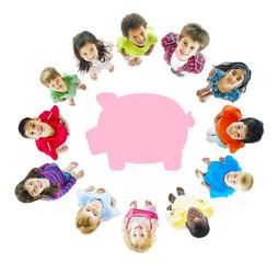 Children Piggy Bank Saving