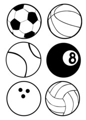 Black And White Sports Balls