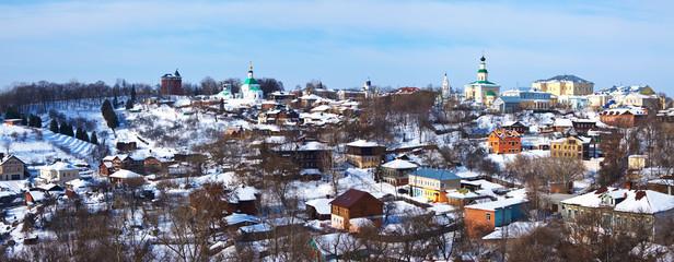 Panoramic view of historical district at Vladimir