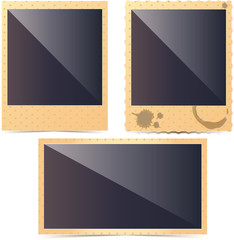 Vector retro photo frame