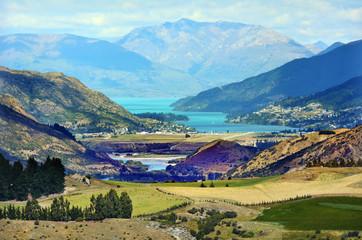 Zelfklevend Fotobehang Diepbruine Queenstown New Zealand