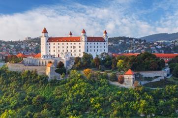 Fotobehang Kasteel Bratislava castle at evening, Slovakia