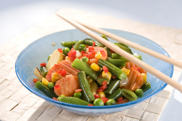 Wok vegetable