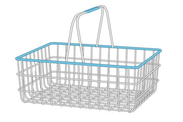 cartoon image of shopping basket