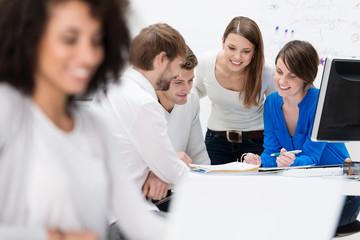 kreatives team bei der arbeit
