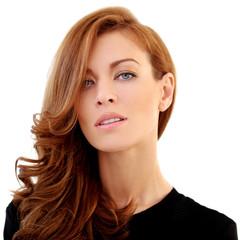 Gorgeous woman on a white background
