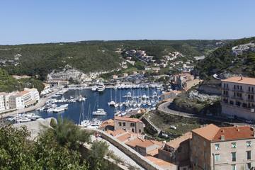 Bonifacio harbor, Corsica.