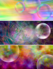 Colourful Bubbles Website Banner headers
