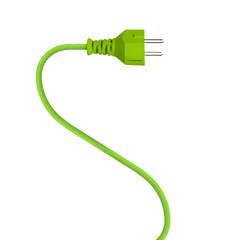 Grüner Stecker