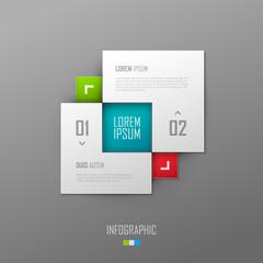 Vector website template design