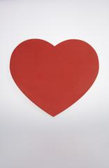 Red heart shape chalkboard