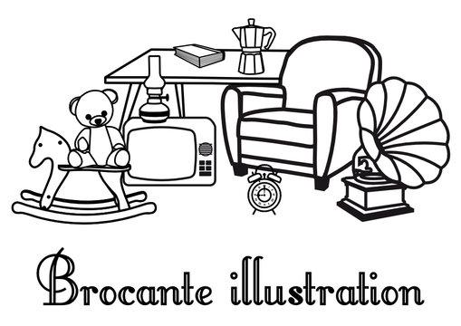 illustration brocante & vide grenier - 2