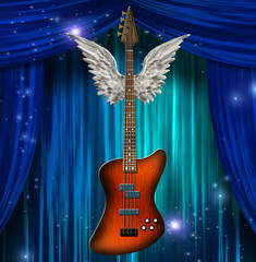 Guitar winged