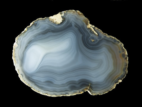 Polished natural agate geode