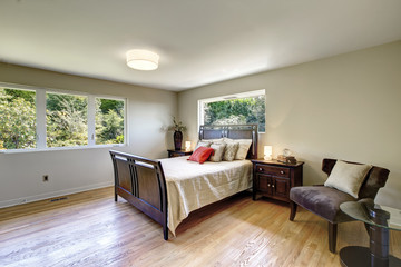 Bright furnished bedroom