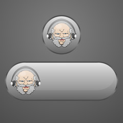 Button grandfather headphones