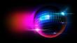 disco ball with lighting scene