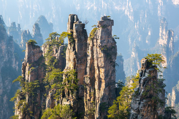 Photo sur cadre textile Chine Zhangjiajie National forest park China